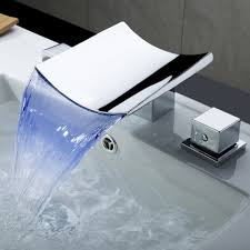 picking waterfall bathroom faucet for modern bathroom looks the