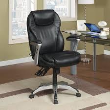 Executive Desk Chairs Serta Bonded Leather Ergo Executive Office Chair Black Hayneedle