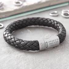 bracelet love ebay images Personalised 39 i love you 39 infinity men 39 s leather bracelet jpg