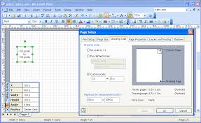 pixel rulers in visio complex diagrams