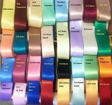 sided satin ribbon faced satin ribbon ebay
