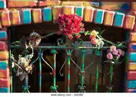 Banisters Flowers Colored Bricks Stock Photos U0026 Colored Bricks Stock Images Alamy