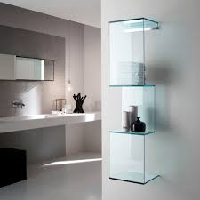 Glass Wall Design by Wall Mounted Shelf Contemporary Glass Cling By R U0026d Tonelli