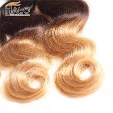 shop halo hair ombre peruvian human hair 8a blonde 4