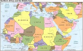 Middle East Outline Map by Middle East Map