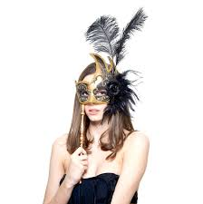 gold masquerade mask scary masquerade mask feathers venetian masquerade mask with