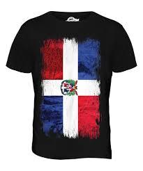 Domenican Flag Dominican Republic Grunge Flag Mens T Shirt Tee Top República