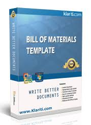 Bill Of Materials Excel Template Bill Of Materials Templates Ms Word Excel