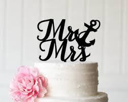 anchor wedding cake topper modest ideas anchor wedding cake topper impressive etsy cakes ideas