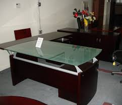 Nice Office Furniture by Nice Brown Glass Office Desks Can Be Combined With Glasses Table
