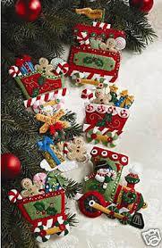 bucilla kits bucilla candy express felt christmas ornament kit 86157