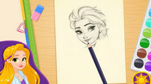 rapunzel art disney princess drawing games for girls youtube