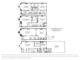 Brooklyn Brownstone Floor Plans 833 President St Park Slope Stribling U0026 Associates