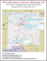 New Mexico State Map by Reggio Resources U2014 New Mexico Reggio Emilia Exchange