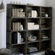 Recycled Timber Bookshelf How To Make 14 Wooden Crates Furniture Design Ideas