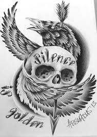 drawn tattoo paper pencil and in color drawn tattoo paper