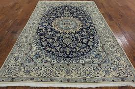 Octagon Rug 6 Fine Authentic Persian Nain Wool U0026 Silk Area Rug 6 U0027 8