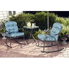 Turquoise Patio Furniture Amazon Com Better Homes And Gardens Seacliff 3 Piece Rocking