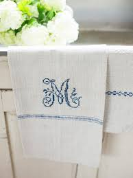 Now Designs Kitchen Towels Easily Cross Stitch A Monogrammed Tea Towel Hgtv