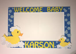 rubber duck baby shower party photo booth frame