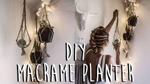 diy how to make a macrame plant hanger youtube