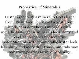 The Way A Mineral Reflects Light Minerals By Maren Chapman