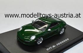 porsche 911 dark green porsche 911 991 coupe carrera s nr 1000000 green 1 87 ho