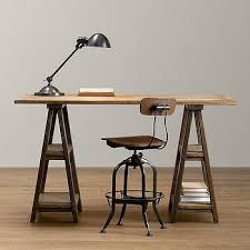 ava glass display wood desk strut 70 work table i crate and barrel