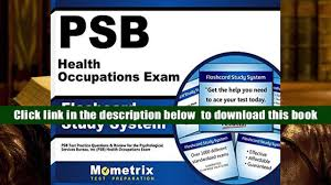 audiobook psb health occupations exam flashcard study system psb
