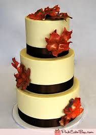 autumn fall leaf wedding cake wedding cakes