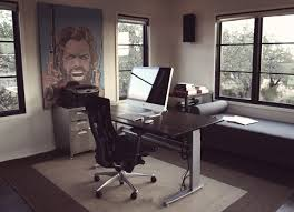 masculine imac computer desk arrangement ideas
