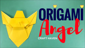 how to make easy origami angel simple origami tutorial for