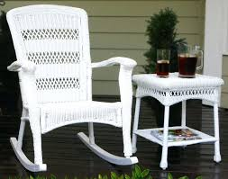 Plastic High Back Patio Chairs by Resin Wicker Rocking Chair White Wicker Patio Furniture Rocking