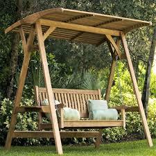 Backyard Swing Ideas Outdoor Swing Ideas Wooden Swing With Canopy New Patio Swing With
