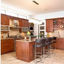 cuisine contemporaine en bois cuisines beauregard cuisine réalisation 148 cuisine
