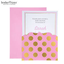 polka dot invitations pink gold polka dot invitations hobby lobby 80794970