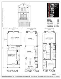 townhouse plan townhouse plan d5214 2524 if the garage was sunken to basement