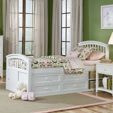 Kids Beds With Storage Drawers Ne Kids Schoolhouse Captain Bed White Hayneedle
