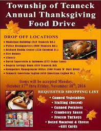 bogota savings bank thanksgiving food drive