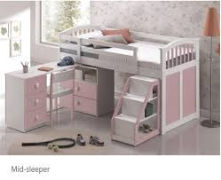 Beds For Everyone Wood Bunks - Mid sleeper bunk bed