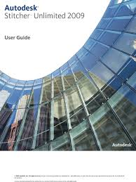 autodesk stitcher unlimited 2009 user guide online and offline