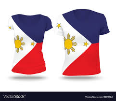 flag shirt design of philippines royalty free vector image