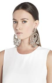 statement earrings bcbgmaxazria metallic statement earrings bcbg