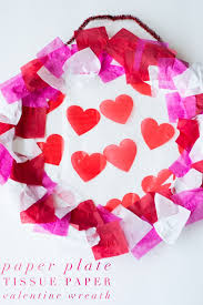 it s your special day plate paper plate tissue paper wreath glue sticks and gumdrops