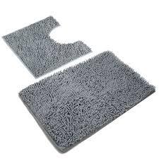 non slip microfiber bathroom contour rugs combo set of 2 soft