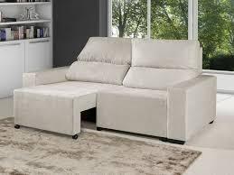 chaise e 60 sofá retrátil reclinável 3 lugares suede elegance confort