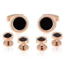 gold studs gold black cufflinks studs formal set