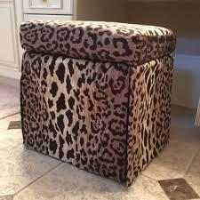 Ideas For Leopard Ottoman Design Living Room Leopard Print Storage Ottoman With Leopard Print