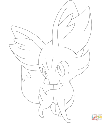fennekin coloring page free printable coloring pages