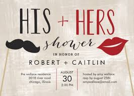 couples shower invitations his and hers wedding shower invitations his and hers